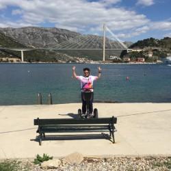 Das Eschathlon-Shirt grüßt aus Dubrovnik, Kroationen