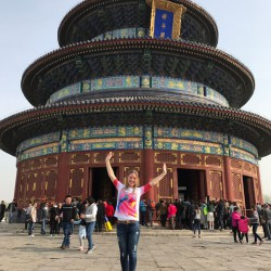Asiatische Grüße vom Himmelstempel in Peking, China