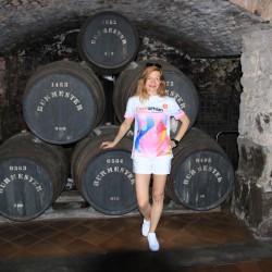 Das Eschathlon-Shirt VOR einer Portweinprobe in Porto...
