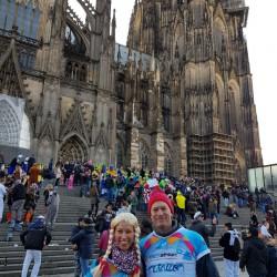 Das Eschathlon-Shirt wurde beim närrischen Treiben in Köln gesichtet...