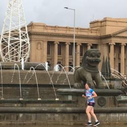 Das Eschathlon-Shirt wurde selbst bei Regen in Colombo - Sri Lanka gesichtet