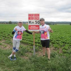 Das Eschathlon-Shirt beim 5-maligen 100km-Biel-Finisher & dessen Velo-Coach...