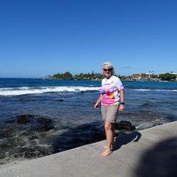 Eschathlon-Shirt am Startplatz des Iron Man - Kailua-Kona, Big Island Hawaii