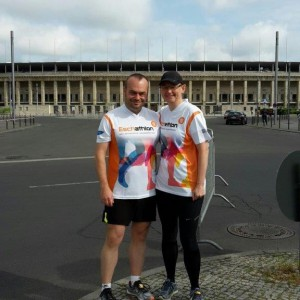 Zwei Eschathleten beim Berlin-Marathon