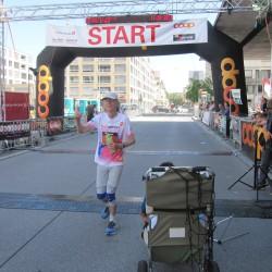 Das Eschathlon-Shirt strahlt auch noch nach einem 100km-Lauf in Biel - Schweiz