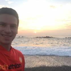 Eschathlon beim Sonnenuntergang in Taiwan