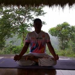 Eschathlon goes Yoga, Regenwald von Ubud, Bali, Indonesien