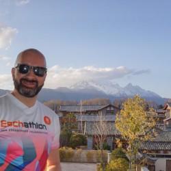 Hier ein Eschathlet am Snow Mountain 5500m, Lijiang, China