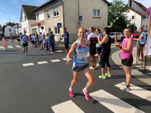Barbara Schwefer auf dem Weg zum Sieg